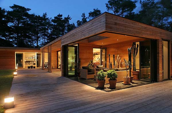 Modern One Storey Residence Surrounded By Pine Trees