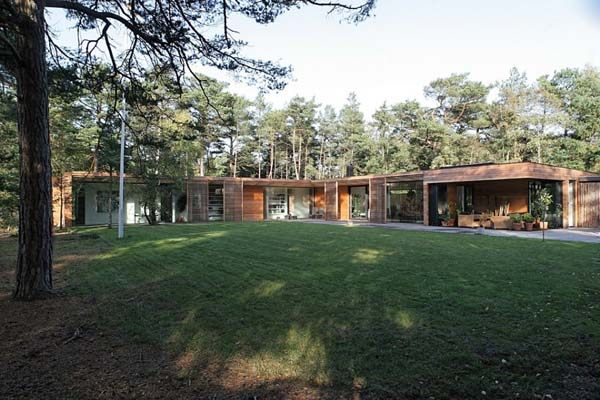 Bergman Werntoft House 2 Modern one storey residence surrounded by pine trees