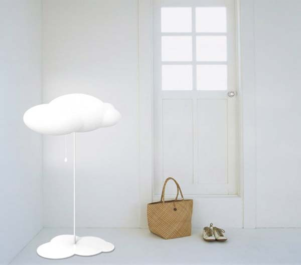 Cloud lamp 2 Cloud shaped floor lamp and pendant lamp from Liping Zhao