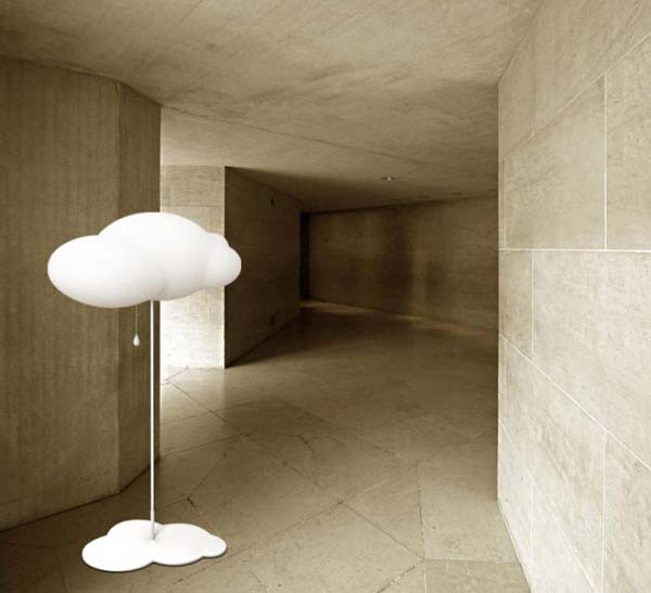 Cloud lamp 4 Cloud shaped floor lamp and pendant lamp from Liping Zhao