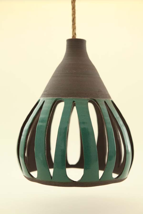 Heather Levine Ceramics 16 Heather Levines ceramic hanging pendant lights