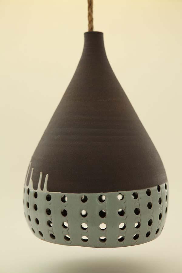 Handmade Ceramic Lamps : Heather levine s ceramic hanging pendant lights