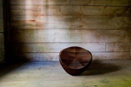 Contemporary rocking chair for adults and kids: Hut-Hut
