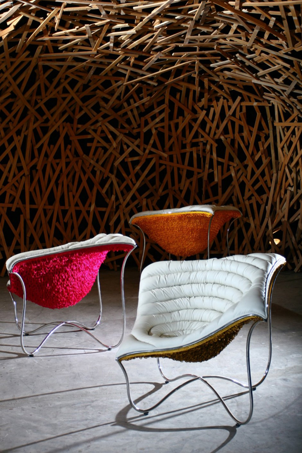 Paisley Chair 2 Comfortable contemporary and bold chair design: The Paisley Chair