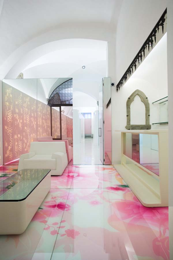 Relaxing Mixture Of Colours Skin Aesthetic Clinic Interior Design on Pink Beauty Salon Interior Design