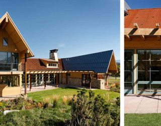 Beautiful residence in Colorado featuring vernacular architecture