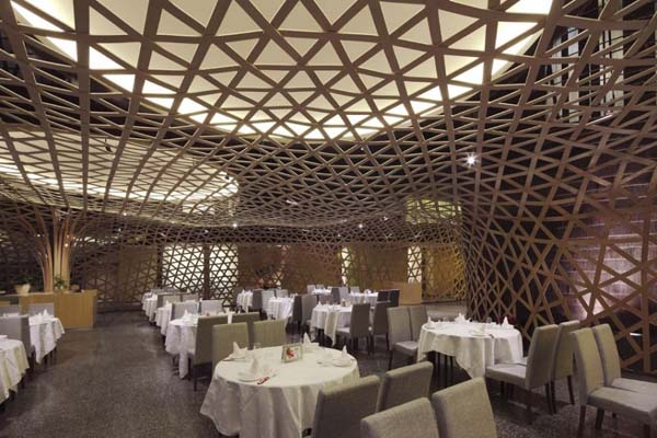 The Tang Palace 2 Modern restaurant design featuring cool bamboo elements