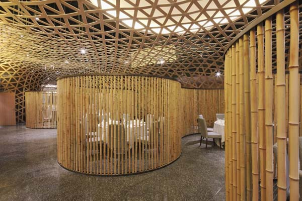 easy bamboo interior decoration. View in gallery Modern restaurant design featuring cool bamboo elements