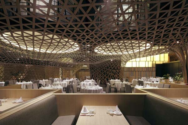 Modern Restaurant Design modern restaurant design featuring cool bamboo elements