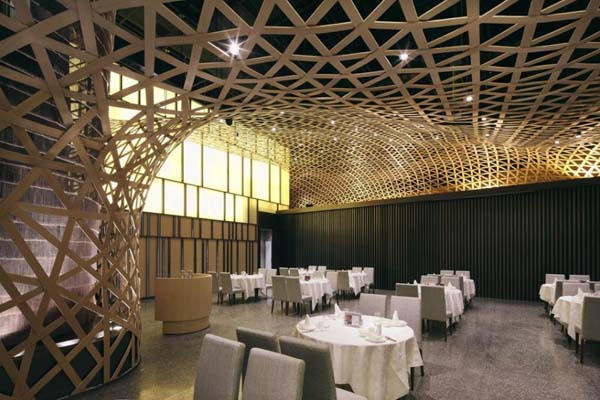 The Tang Palace Modern restaurant design featuring cool bamboo elements