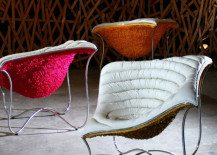 Comfortable contemporary and bold chair design: The Paisley Chair