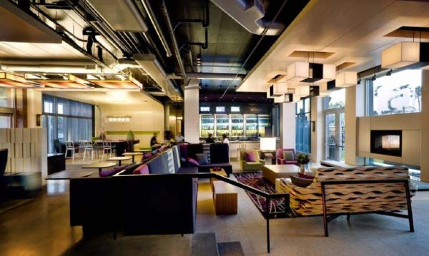 Chic atmosphere at the Aloft Hotels by Rockwell Group