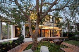Respectful House Among Trees built depending on the surroundings