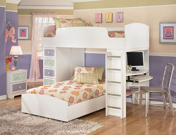 Kids bedroom paint ideas 10 ways to redecorate for Bunk bed bedroom designs