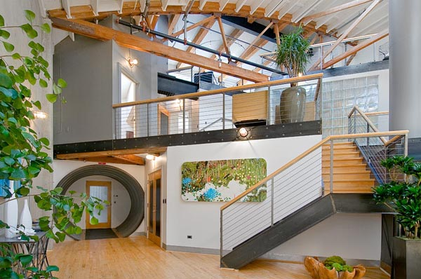 Loft in SoMa San Francisco 210 Fabulous multi level loft in San Francisco by Martin Building Company
