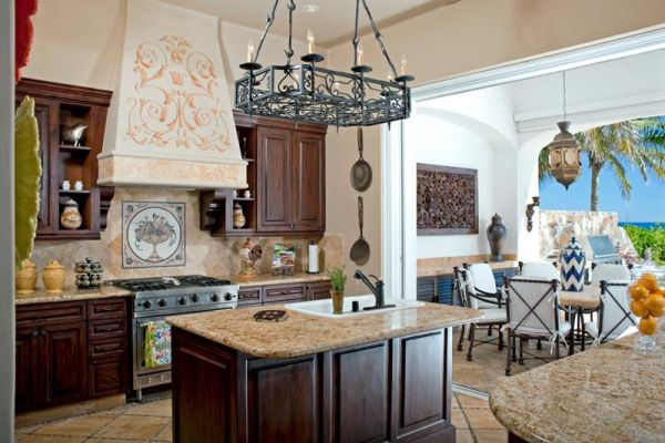... Luxurious Mexican Style Holiday Residence At Palmilla For Mexican Style  Kitchen Pictures ...