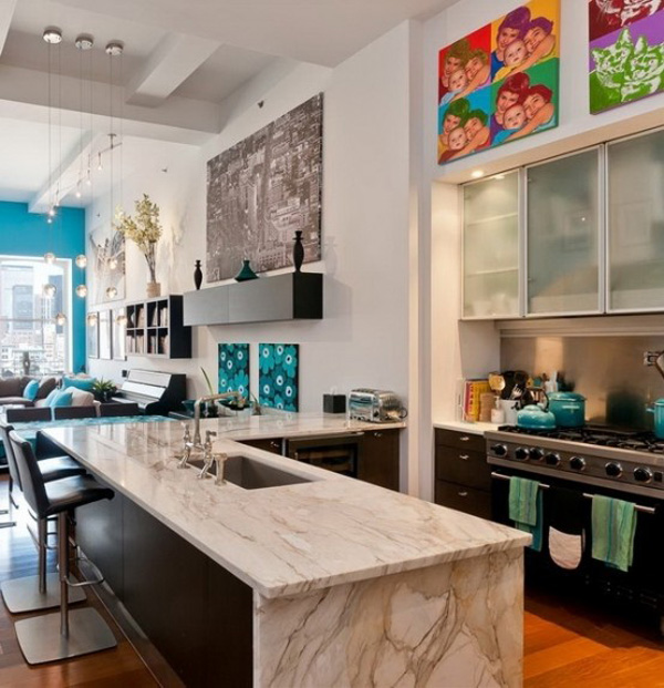 New York Loft Design 2 Fabulous New York loft livened with light and colour