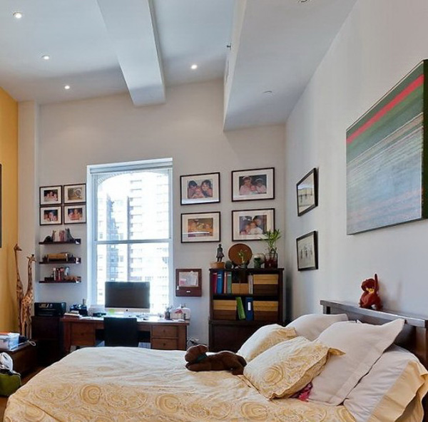 Loft Modern Bedroom Design Ideas: Fabulous New York Loft Livened With Light And Colour