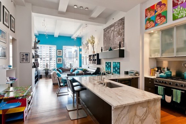New York Loft Design Fabulous New York loft livened with light and colour