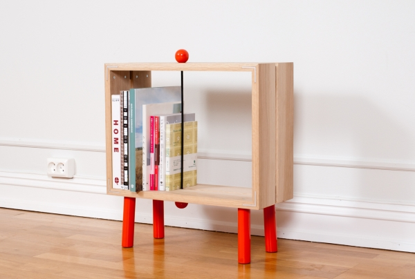 Slot boks 6 Interesting and fun open back bookcase   Slot Boks by Jenk Design Office