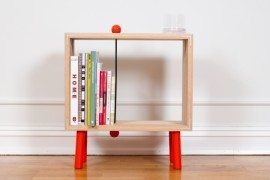 Interesting and fun open back bookcase – Slot Boks by Jenk Design Office