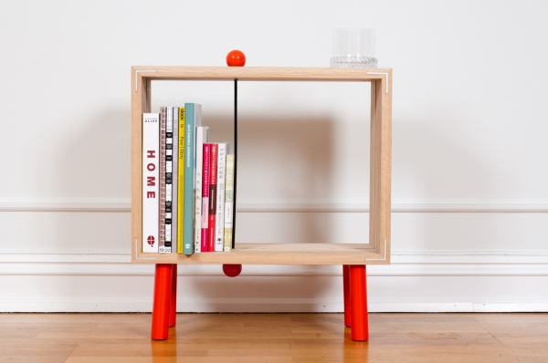 Slot boks 7 Interesting and fun open back bookcase   Slot Boks by Jenk Design Office