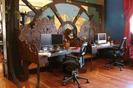 Steampunk-Themed Office Space for Three Rings Design Office