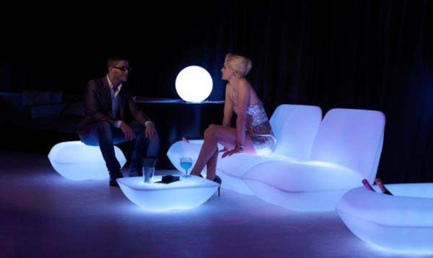 Glow in the dark Vondom Pillow Patio Furniture