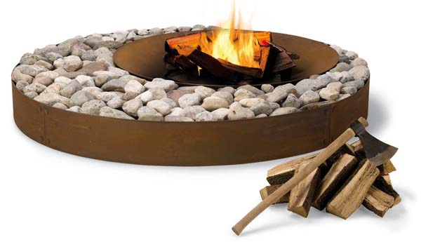Zen Fireplace 2 Exceptional outdoor fireplace design: Zen Fireplace from AK47 Design