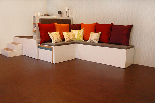 all in one furniture set 2 Compact all in one furniture set for urban spaces