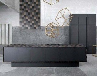 Modern recycled paper kitchen furniture: Paperstone Kitchen
