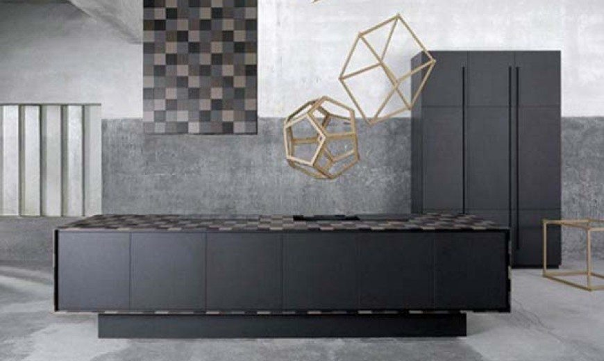 Modern recycled paper kitchen furniture: Paperstone Kitchen