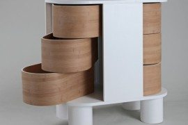 Contemporary dresser design that slides open: Peekaboo Dresser