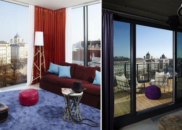 25 hours hotel in vienna a mix of beautiful styles and for Design hotel 25 hours vienna