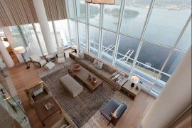 Contemporary penthouse interior design