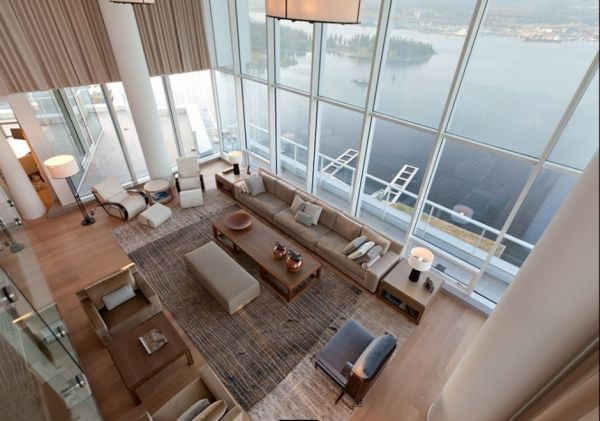 Contemporary penthouse interior design Contemporary Penthouse Interior Design in Vancouver by Robert Bailey