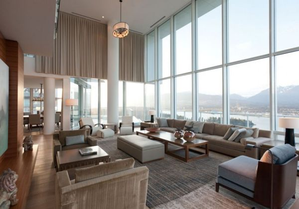 Contemporary penthouse interior design in vancouver by for Apartment design vancouver