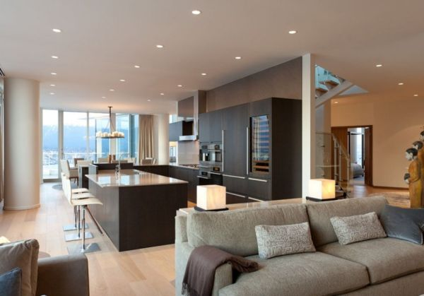 Contemporary penthouse interior design in vancouver by for Interior design vancouver