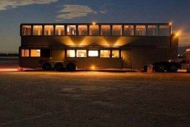 Vacation house on wheels with interesting design features
