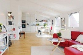 Modern Attic Apartment Charms With Its White Interiors