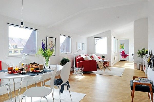 Modern Attic Apartment 2 Modern Attic Apartment Charms With Its White Interiors