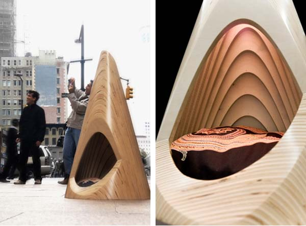 View in gallery & Conical Pup Tent for indoor use - modern pet furniture