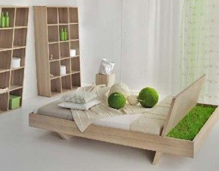 Awesome Somnia Bed design featuring a green display