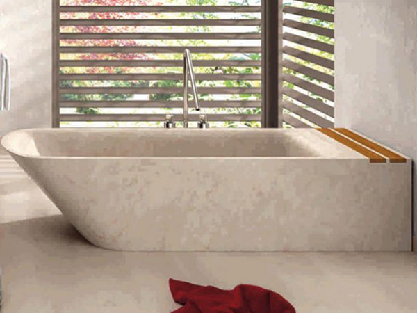 Stone Bathtub 2 Lovely stone bathtub displaying clean modern lines