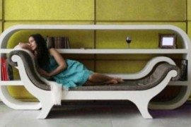 Creative mix of furniture helping you relax and enjoy a book