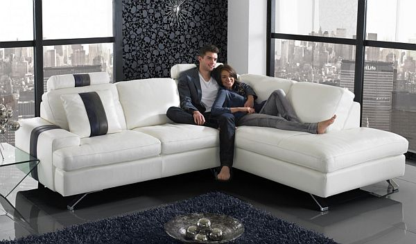A popular style of L shaped sofa design ...