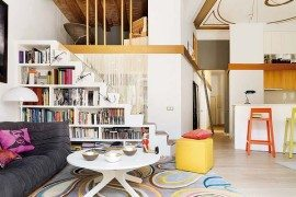 Barcelona apartment flooded with natural light