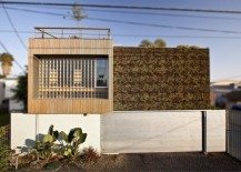 Sustainable residence featuring a living green wall: Brooks Avenue Residence