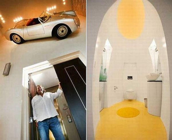 Car parked inside home 12 Living Rooms Can Double Up as Parking Lots Too