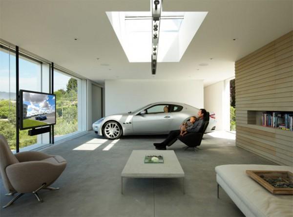 Car parked inside home 5